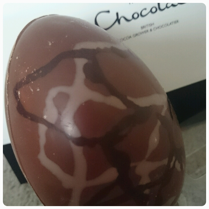 close up of hotel chocolat milk chocolate scrambled egg