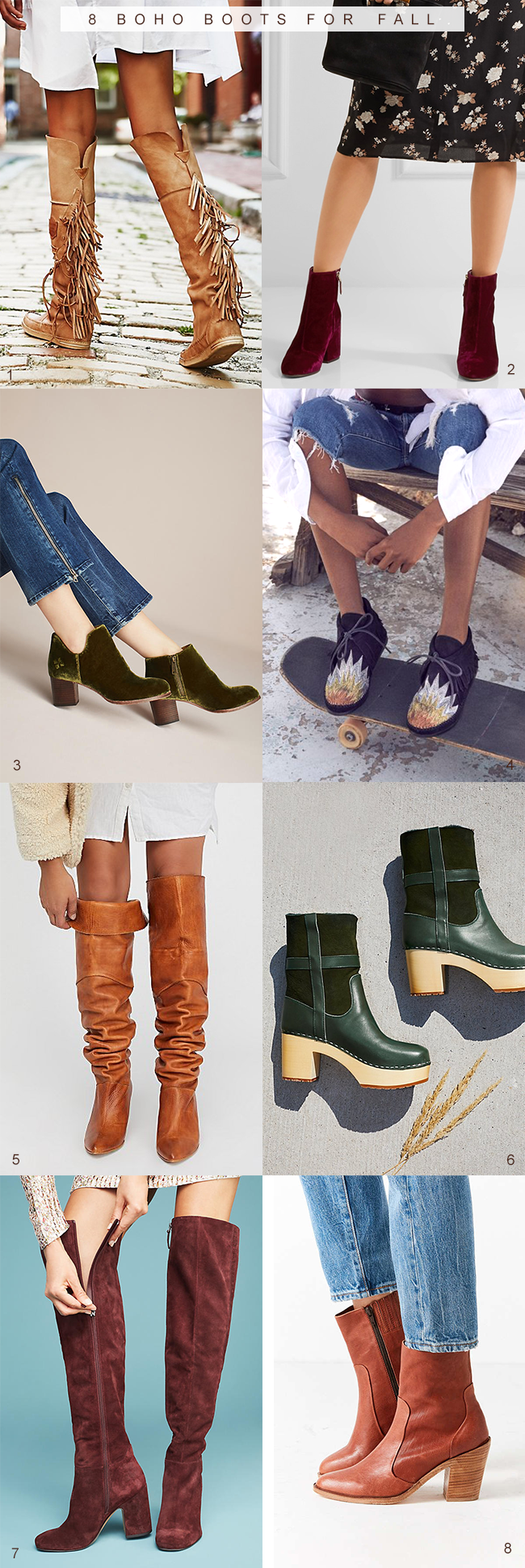 8 Boho Boots for Fall | Bubby and Bean