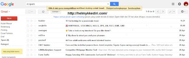 Cara mengganti tampilan Gmail keversi terbaru
