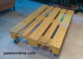 mesa de centro Europalet amarillo Paletsonline.com