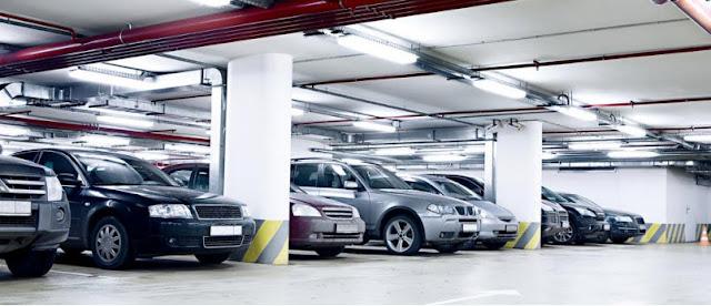 Không gian đỗ xe ô tô rộng rãi, thông minh