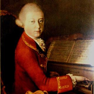 Tono: Marcha Turca de Mozart. En la imagen un cuadro de Mozart tocando el piano