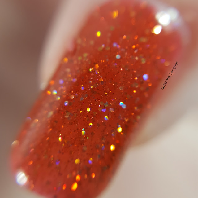 Burnt-orange-scattered-holographic-nail-polish
