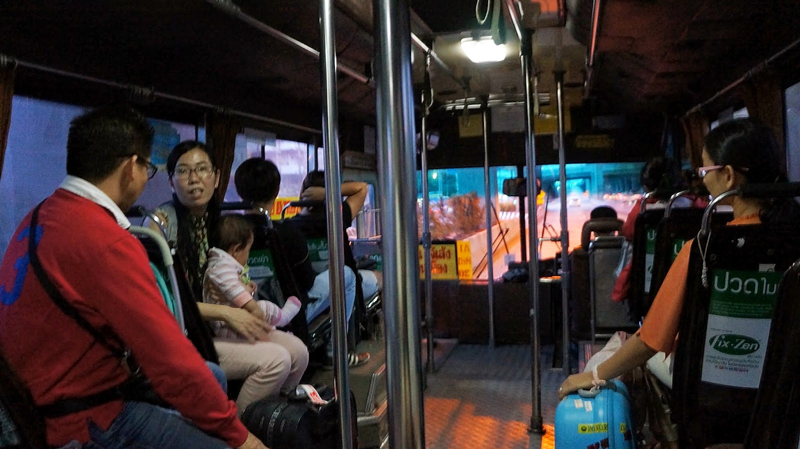 Taking the A1 bus to Mo Chit