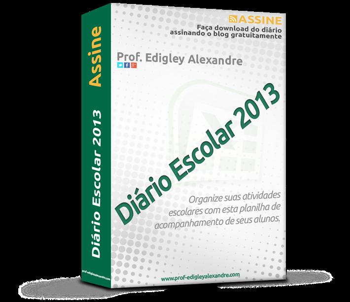 Diário Escolar 2013 liberado para download