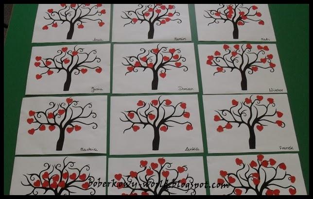 Boberkowy World Walentynkowe Kartki I Drzewko Miłości Prace