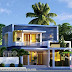 3 bedroom flat roof contemporary residence rendering
