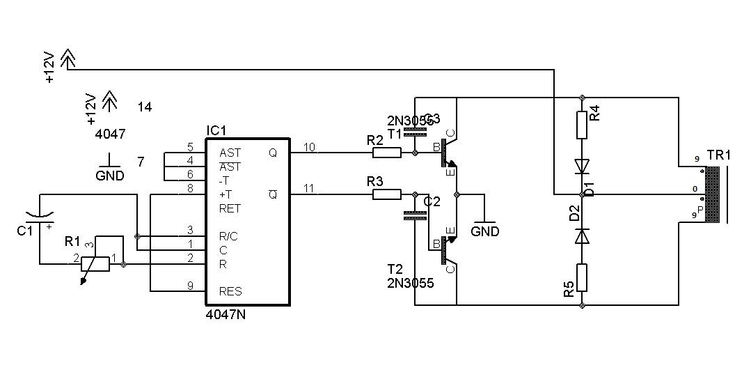 Inverter 100w With Ic 4047 Electronics Solution