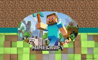 Etiquetas para Imprimir Gratis de Fiesta de Minecraft.