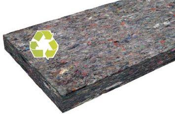 isolamento termico da riciclo tessuti