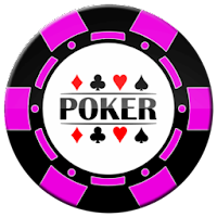 pink and black poker chip