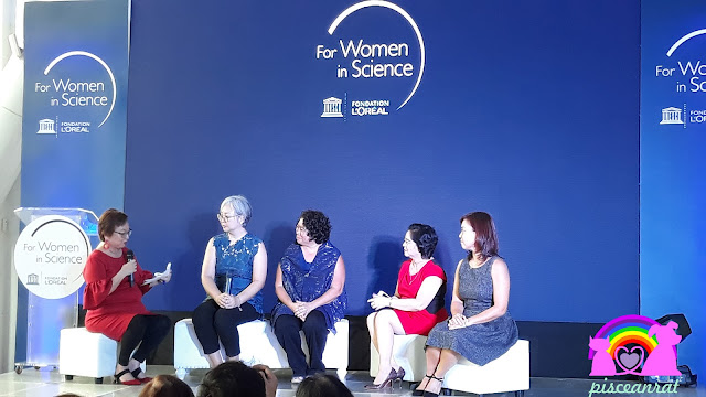 "Ms. Rina Jimenez-David including Dr. Didith Rodrigo, Scientist and Author of ""Women in Science"" Children's Books; Dr. Marieta Sumagaysay, Executive Director, National Research Council of the Philippines; and Dr. Laura David, FWIS Philippines National Fellow 2011; and Dr. Aletta Yñiguez, FWIS Philippines National Fellow 2012,"