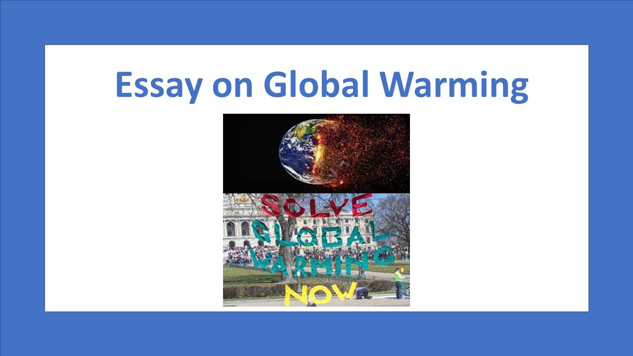 Global warming an essay