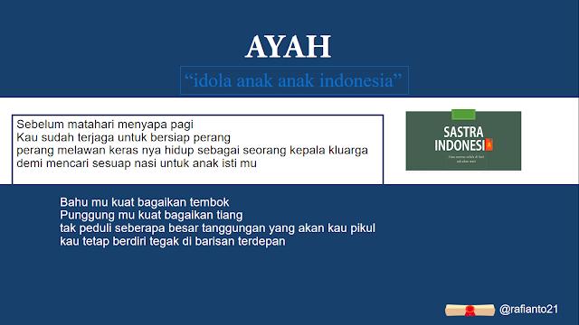Puisi untuk ayah LELAKI TERHEBAT | 34 Sastra Indonesia