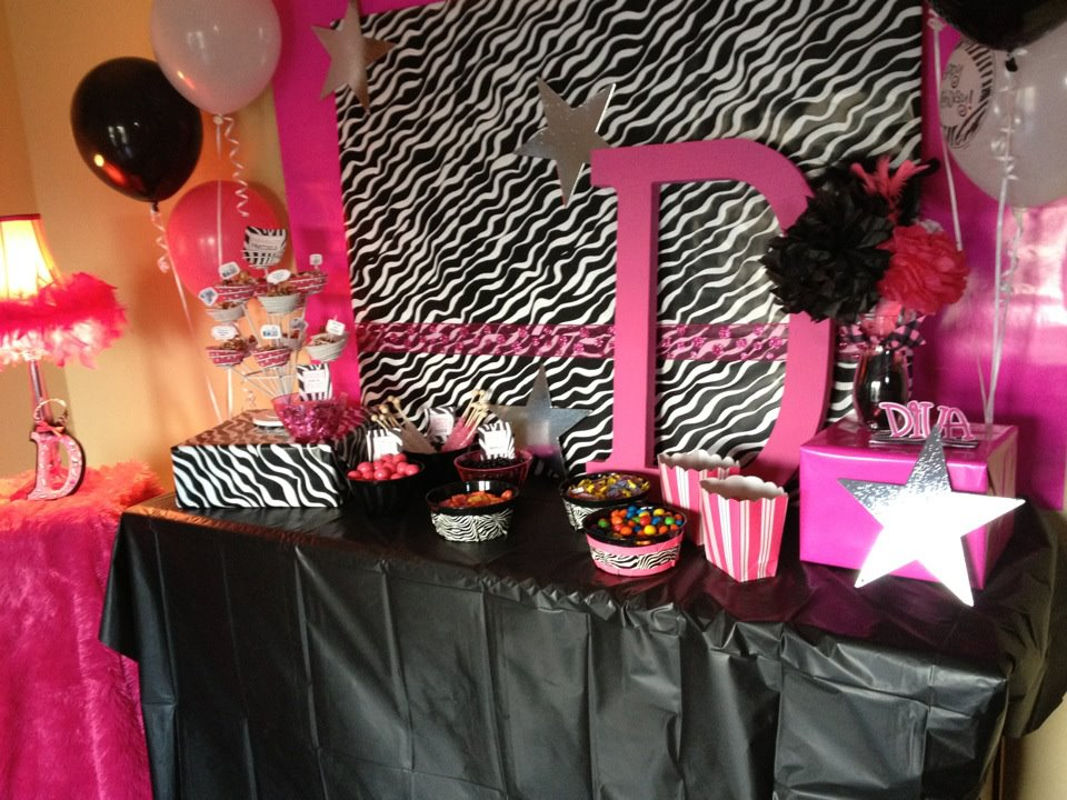 Sweet Revelry Diva Party Pink Black And Zebra Theme
