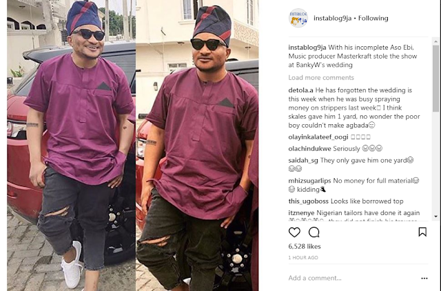 Music producer Masterkraft dressing at banky w wedding. READ WHAT PEOPLE ARE SAYING