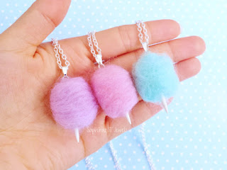 awesome eco-friendly 6th anniversary gift cotton candy necklace