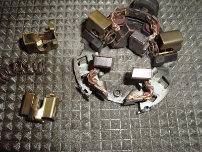 escobillas motor de arranque