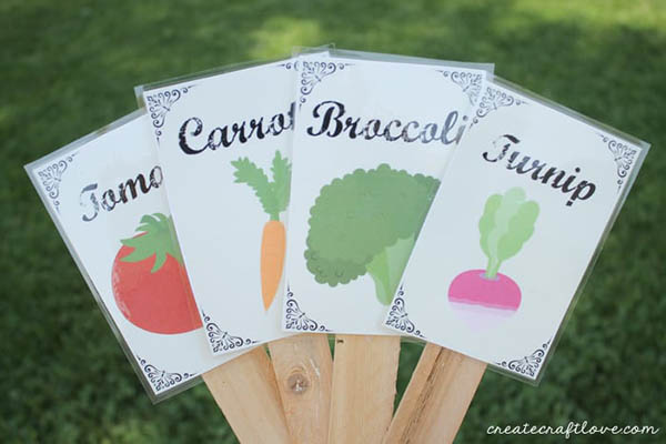 printable garden markers from create craft love