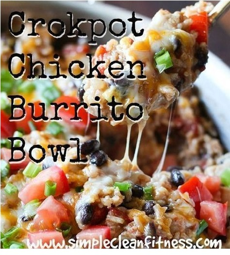 Crockpot Chicken Burrito Bowl