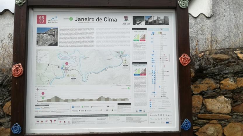 Placa de Informação sobre a Grande Rota do Zêzere