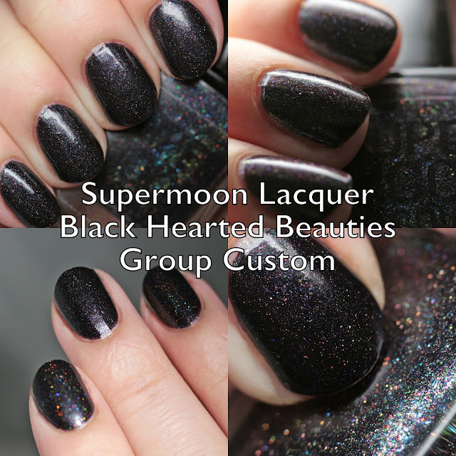 Supermoon Lacquer Black Hearted Beauties Group Custom