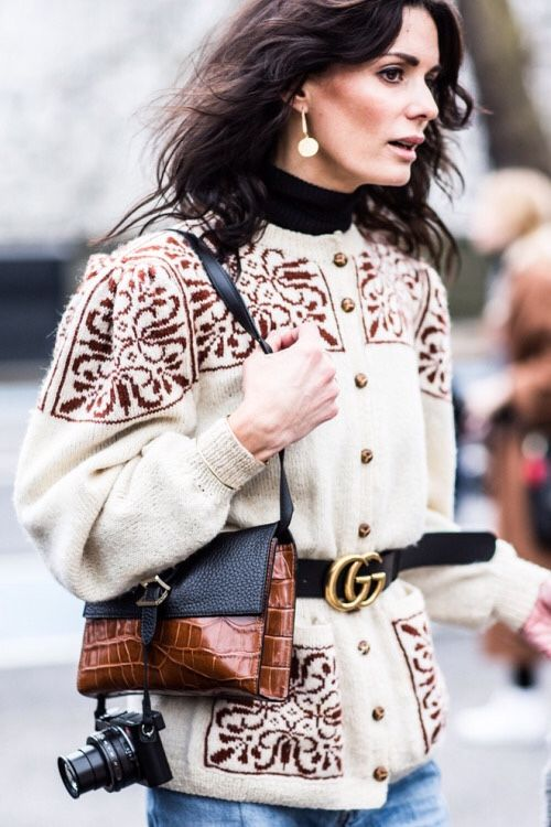 They All Hate Us LFW Street Style - Hedvig Opshaug Gucci Belt