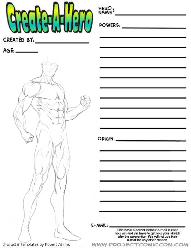 Robert Atkins 39 S Blog More Superhero Figure Templates