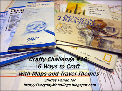 6 Ways to Craft with Maps and Travel Themes