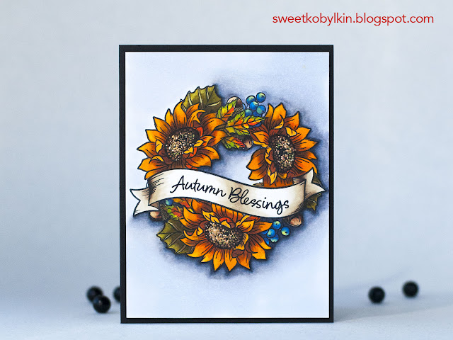 The Stamp I colour Non-Stop This September Autumn Blessings WPlus9 Design x Stephanie Low Creative