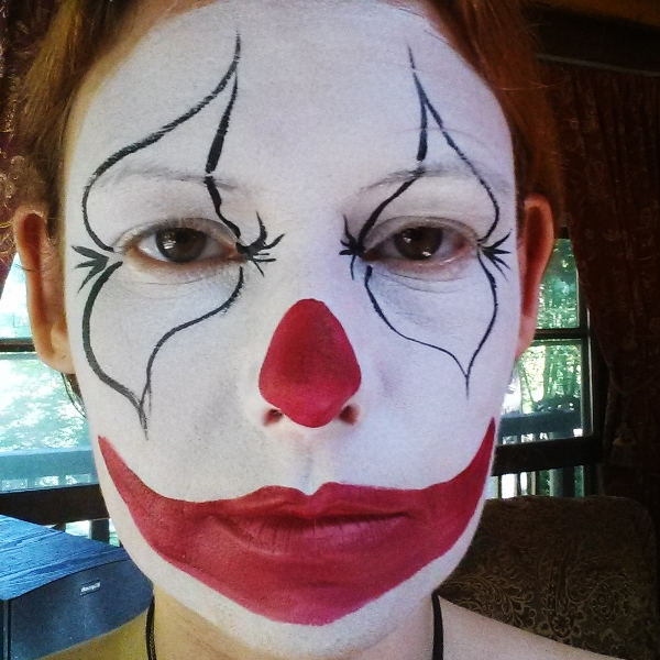Simple Clown Face Painting Designs