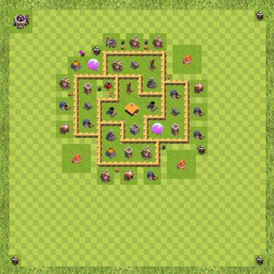 War Base Town Hall Level 6 By Rifky Adhitya (War TH 6 Layout)