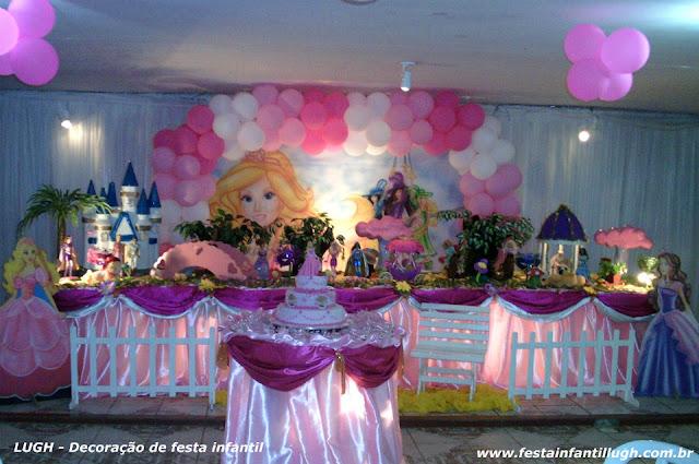 Decoração infantil Barbie e as Três Mosqueteiras - Tradicional luxo forradas com toalhas de tecido