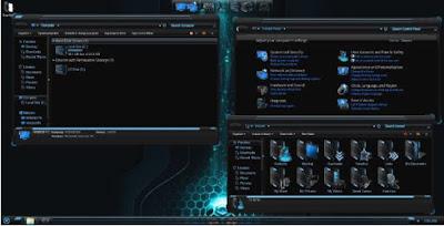 ubah tampilan pcmu dengan HUD Blue Skin Pack