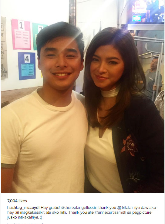 McCoy De Leon overjoyed at having a photo taken with Angel Locsin on It's Showtime