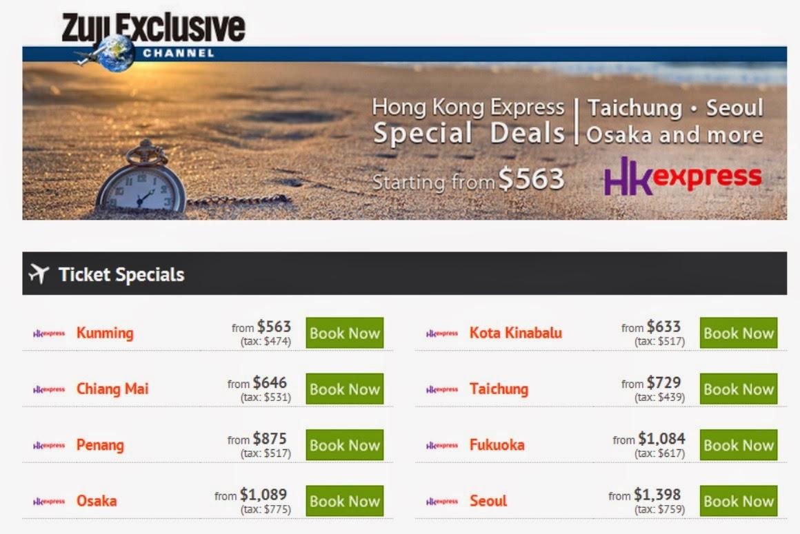 香港快運機票優惠: 香港飛沙巴來回$633,福岡$1,084,大阪$1,089,首爾$1,398 (優惠期至2014年5月3日)
