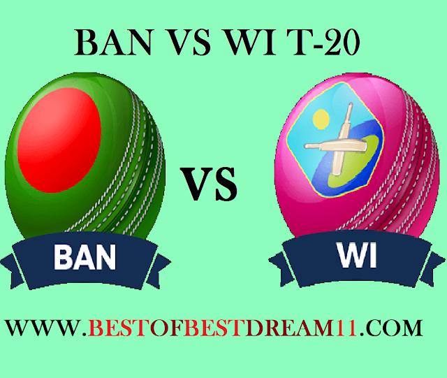 BAN VS WI T20 MATCH