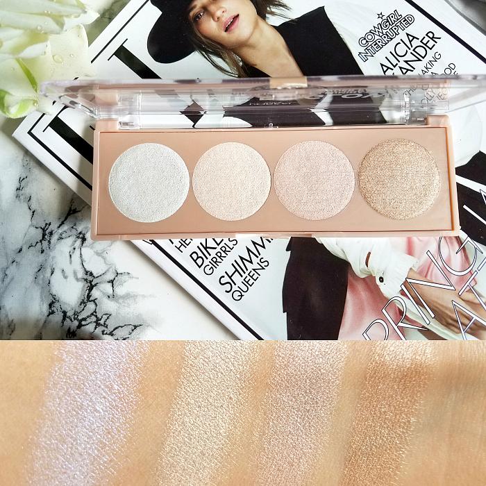 L´Oréal Paris La Vie en Glow Highlighting Powder Palettes - Cool Glow Review Swatches