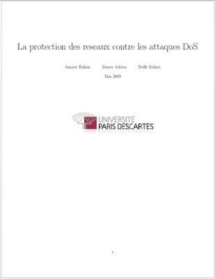 La protection des reseaux contre les attaques DoS