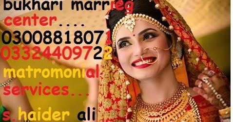 Lahore Marriage Bureau, Lahore; Pakistan ~ BUKHARI