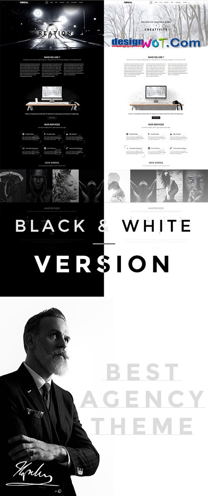 Foreal - Clean, Elegant Black and White Theme