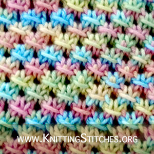 The Knotted Openwork Stitch :: Knitting Stitch. Knotted Openwork Stitch For Baby Blanket pattern.