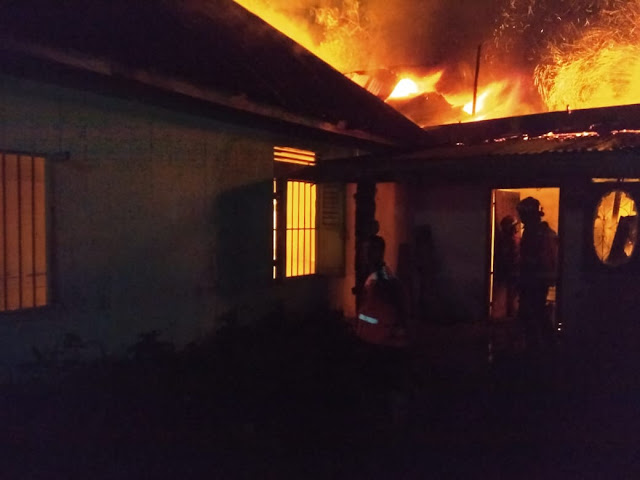 Rumah Semi Permanen Terbakar, Kepala BPBD Kota Binjai : Rumah Korban Tidak Ada Aliran Listrik