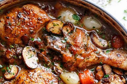 Coq Au Vin, the Ultimate One Pot Dinner