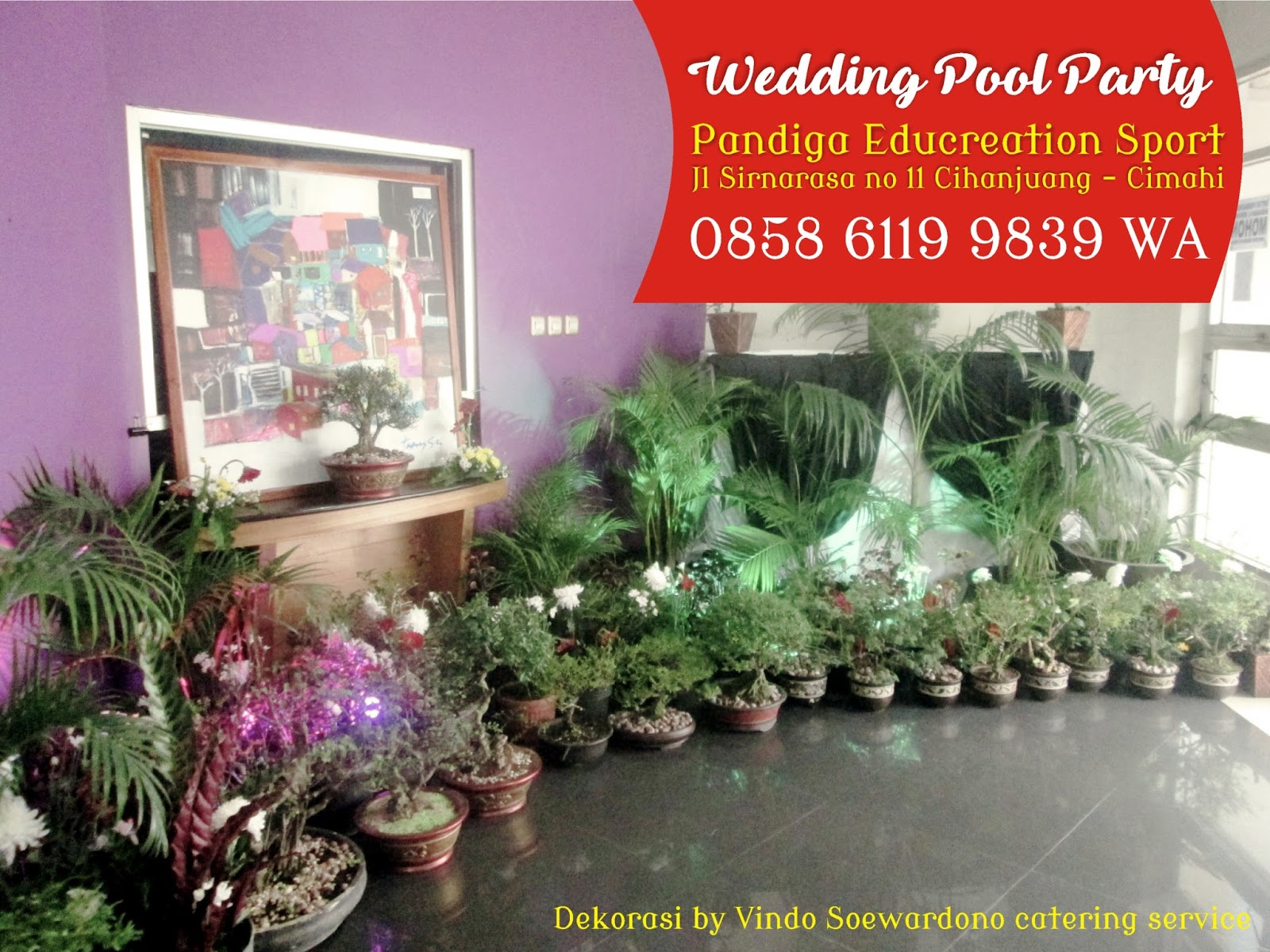 Wedding venue pandiga cimahi for Dekorasi pool party