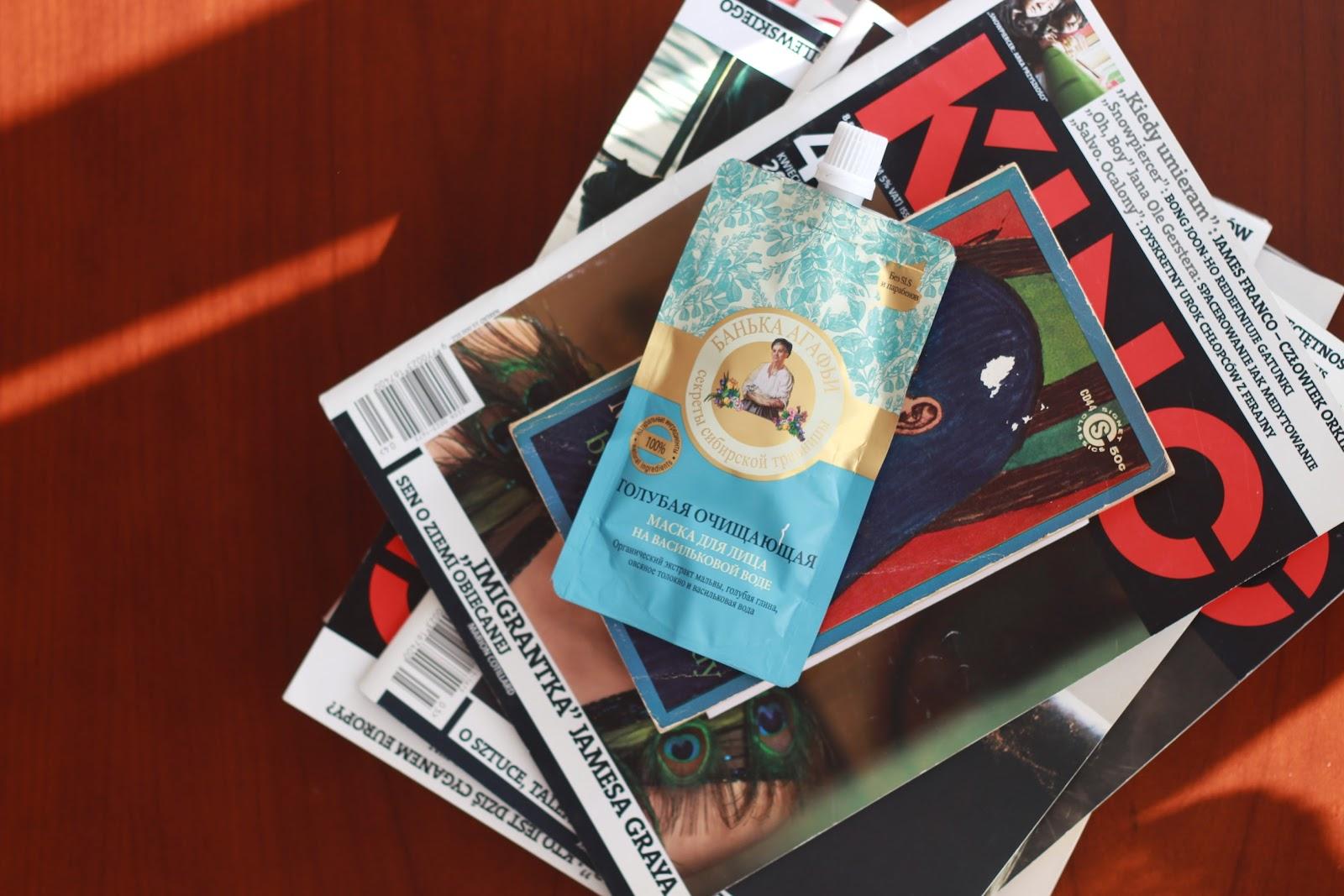 Bania Agafii oczyszczająca maseczka do twarzy z niebieską glinką