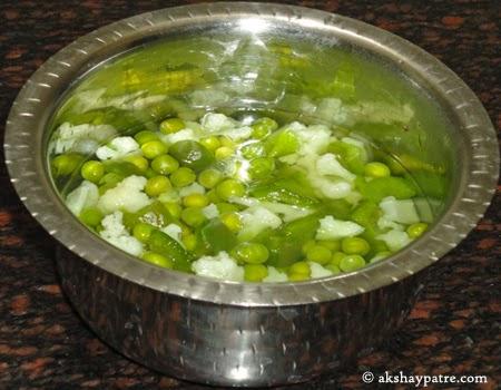 cooked vegetables for pav bhaji