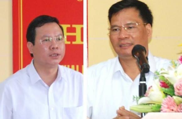 Ông Hà Vũ Tuyến (trái) và Lê Tiến Anh