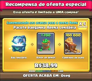 Comprar Baú Lendário, com Gemas e Ouro barato no Clash Royale