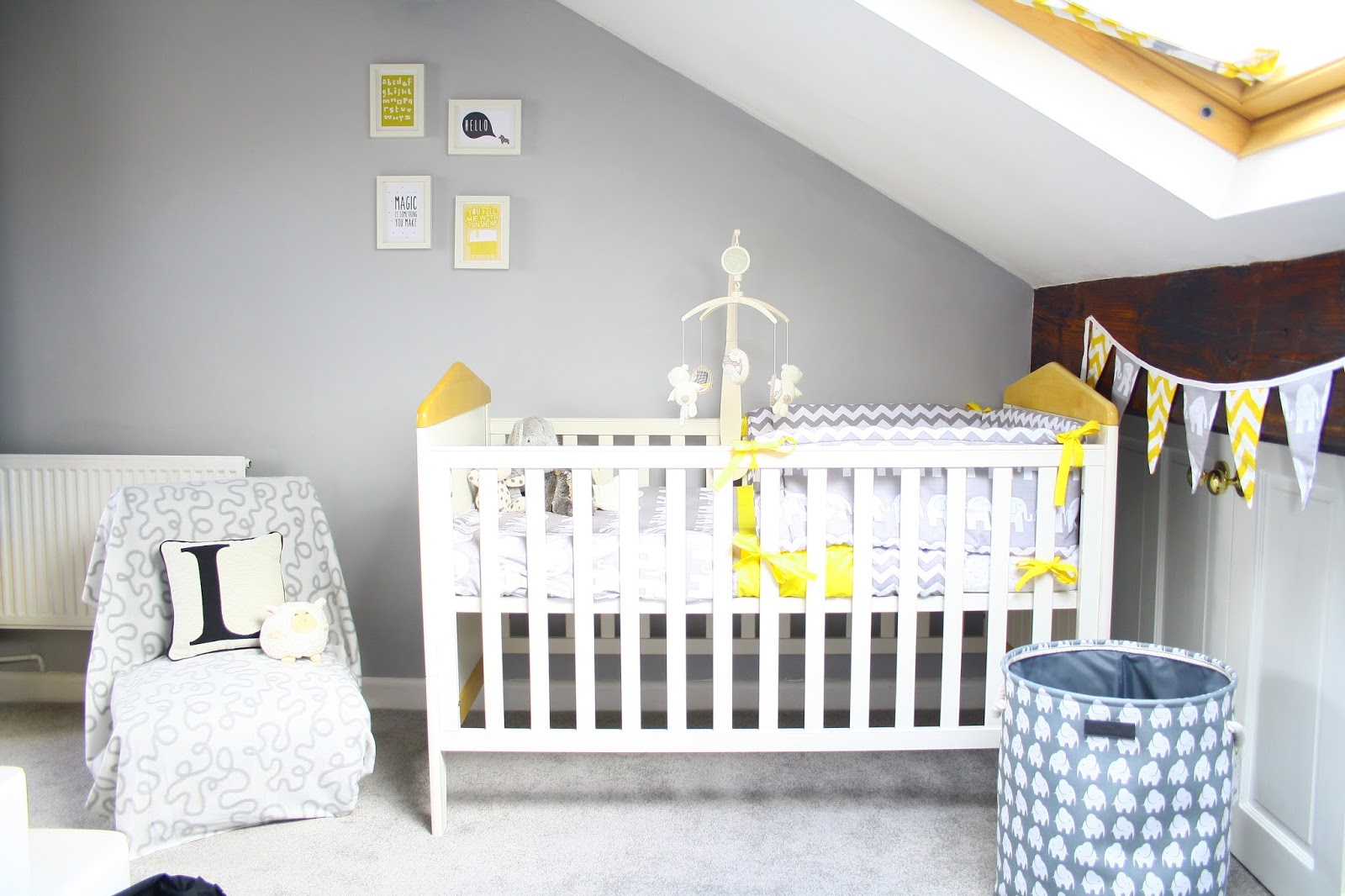 A Grey And Yellow Baby Nursery Room Tour